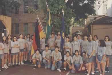 1995 - Alunos no Pátio do Colégio Cruzeiro - Centro