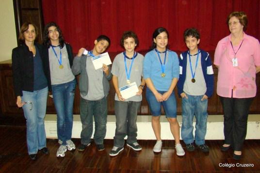 2009 - Entrega de medalhas por participação na Olimpíada de Matemática, na unidade Centro