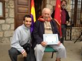 Oscar de Marcos, del FMGU con Josep Almudever. Xulio Garcia/FMGU