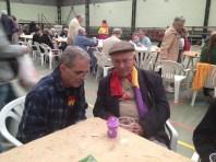 Severiano Montero de AABI y Josep Almudever. Almuerzo en Torija. Xulio Garcia/FMGU