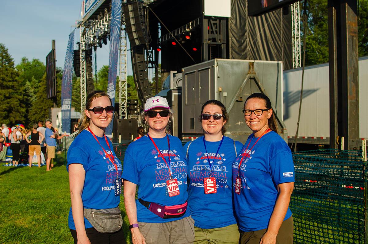 Volunteers - Memorial Park Concert 2019
