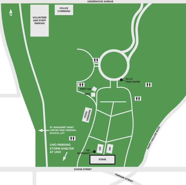 Memorial Park Concert site map