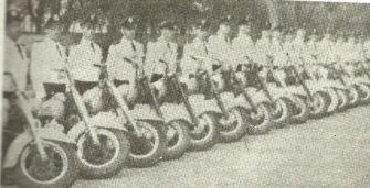Esquadrão de Motociclistas da antiga Guarda Civil de São Paulo.