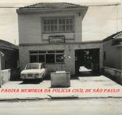 Antiga 5ª Delegacia de Polícia de Santos- DEINTER 6, na Avenida Nossa Senhora de Fátima- Bairro da Areia Branca, Zona Noroeste, em 1.972.