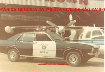 Raríssimo registro no Aeroporto de Cogonhas, da viatura da RONE, marca Ford- Maveric, cedido pela montadora e preparado pelo então Delegado da RONE, George H Millard, no início da década de 70.
