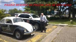 Delegado de Polícia José Emílio Pescarmona e o velho VW Sedan Fusca da 6ª Seccional do DECAP.