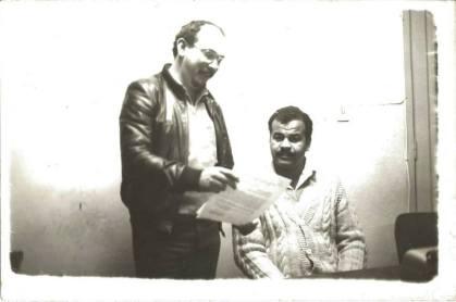 Investigadores de Polícia Cipriano e Valter Correia, uma das boas duplas da Delegacia de Roubos da década de 80.