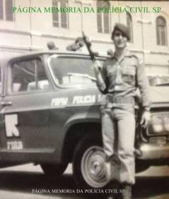 """Investigador de Polícia Walter Mattos """"Waltinho"""" da DIG de Santos, quando estava na ROTA, em 1.975."""