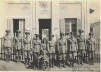 Posto Policial de Tupã- Bastos, em 1.941, com o destacamento policial local.