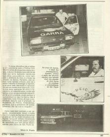 """Chefe dos Investigadores do GARRA, Gaúcho, em novembro de dezembro de 1.988. (extraído do Jornal """"O Tira"""")."""