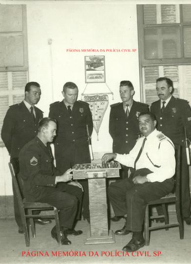 Integrantes de Sorocaba da extinta Guarda Civil do Estado de São Paulo, anos 50/60.