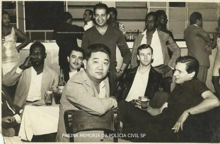 Investigadores Hideo, Fernando ll, Fininho l e João Branco, no Salão Tangará, na Rua Conselheiro Nébias SP, em 26 de agosto de 1.967.