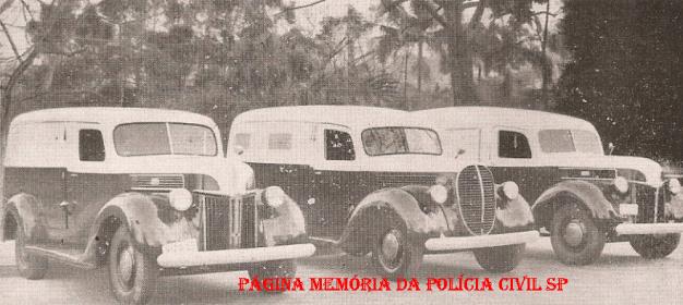 Viaturas da Polícia do Estado de São Paulo no ano de 1944.
