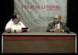 Reporter Policial há 32 anos, o Policial Civil João Caçula Kasemiro, em seu programa de TV Polícia Litoral, em entrevista com o Delegado de Polícia Jairo Garcia Pereira, também jornalista na região do Litoral Norte.