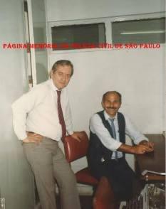 Escrivães Ivo Leonardelli e Rodomil Oliveira, em correição da 2ª Seccional Sul, na década de 90.