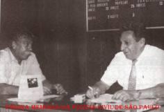 """Os Chefes Gerais dos Escrivães e do Investigadores, respectivamente Francisco Veríssimo Joanini e Francisco Oliveira Fontes """"Chição"""", na década de 80. (acervo do Investigador/Escrivão Mandruca Filho)."""