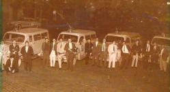 Equipes da RUDI se agrupando para posterior operação. Década de 60.