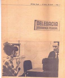 Chefe de Seção da Delegacia de Segurança Pessoal Arthur Velloso, em outubro de 1967.