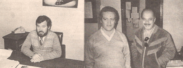 Delegado Mestrinho e Investigadores Ícaro e Ivano, década de 80.