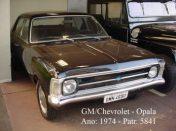 Viatura GM- Opala, ano 1.974.