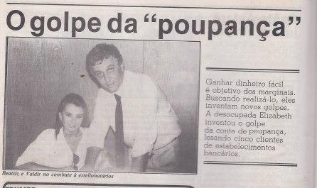 """Investigadores Beatriz """"Bi"""" e Waldir Tabachi, na decada de 80;"""
