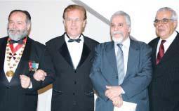 Delegados de Polícia David dos Santos Araujo (aposentado), Alberto Angerami (aposentado), Aparecido Laertes Calandra (aposentado) e Antonio do Carmo Freire de Souza.