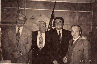 """Esta foto é histórica... Dr. Manoel Luiz Ribeiro Junior, o grande """"Manecão"""", Dr. Antonio Carlos Castro Machado (Dr. Caio), Dr. Ruy Stanislaw Silveira Mello (Dr. Ruyzito), e Dr. Luiz Paulo Braga Braun - 31/10/95. — em Delegacia Geral da Policia Civil de Sao Paulo."""