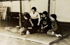 Polícia Feminina (aulas de pronto-socorrismo, anos 50).