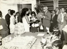 Delegado de Polícia Coriolano Nogueira Cobra, em uma comemoração, no início da década de 70. (acervo da filha Teresa Cobra).