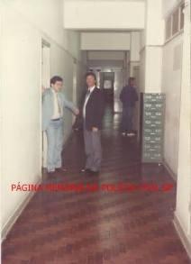 Escrivães da DISCCPAT- DEIC (Kilo), na década de 80. À esquerda Ronaldo Theodoro e Wanderlei (hoje Delegado).