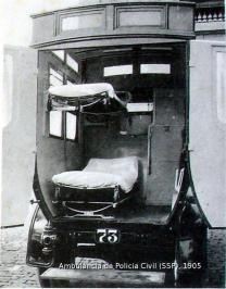 Ambulância da Polícia Civil em 1.905.