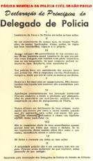 Declaração dos Princípios dos Delegados de Polícia, criado na década de 50.