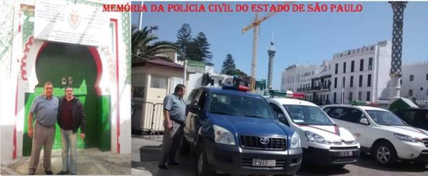 Delegado de Polícia Paulo Roberto de Queiroz Motta, visitando a polícia de Marrocos, em março de 2.014.
