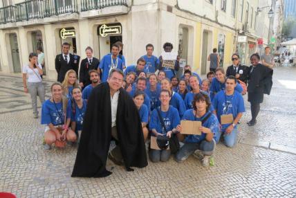 Delegado de Polícia Diretor da ACADEPOL Mário Leite De Barros Filho. Homenagem dos Estudantes da Faculdade de Direito de Lisboa — em Portugal Lisboa.