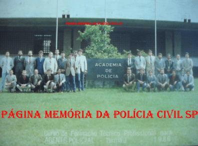 Turma J do Curso de Formação Técnico Profissional de Agente Policial de 1.986.
