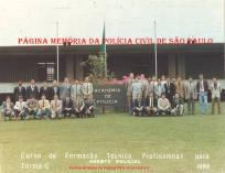 Turma G de 1.986, do Curso de Formação Técnico Profissional de Agentes Policiais ACADEPOL. (Enviado por Ivone Bragantini de Lima, do acervo do Investigador Renato Fauze).
