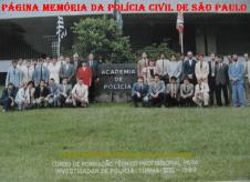 Turma do Curso de Formação Técnico Profissional para Investigador de Polícia- Vlll de 1.989 da ACADEPOL. (Acervo do Investigador Ademir Aparecido Panela).