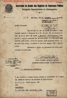 Documento assinado pelo Delegado de Polícia Paulo Alfredo Silveira da Mota, em 24 de outubro de 1.945. Dois anos depois, foi nomeado Secretário de Segurança Pública do Estado de São Paulo, , pelo então Governador Adhemar Pereira de Barros.