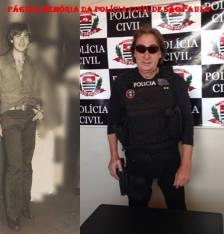 """Investigador Gilberto Teixeira """"Gigi"""", na década de 70 no DEIC e atualmente."""
