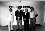 Governador Fleury Filho com Delegados de Polícia da cidade de Assis em junho de 1.988. A esquerda com terno claro o Delegado Marins.
