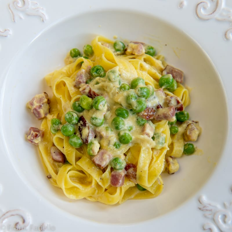 Fettuccine alla papalina (Fettuccine for the Pope)