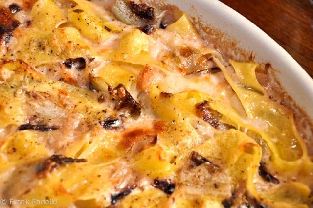 Pasticcio di pappardelle al radicchio rosso di Treviso (Baked Pappardelle with Treviso Radicchio)