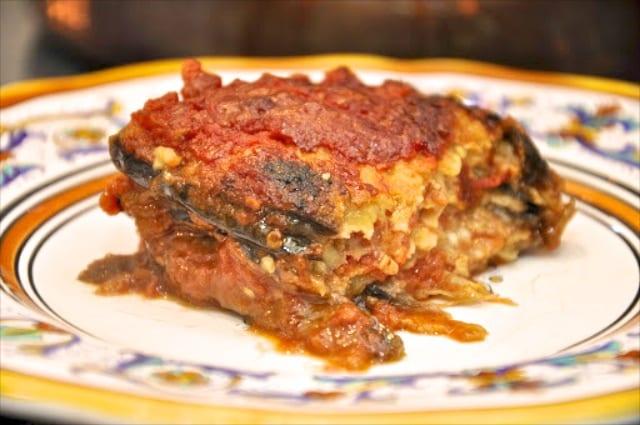 Parmigiana di melanzane (Eggplant Parmesan)