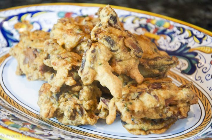 Funghi in pastella (Mushroom Fritters)