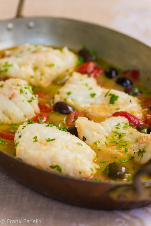 "Pesce all'acqua pazza (Fish Poached in ""Crazy Water"")"