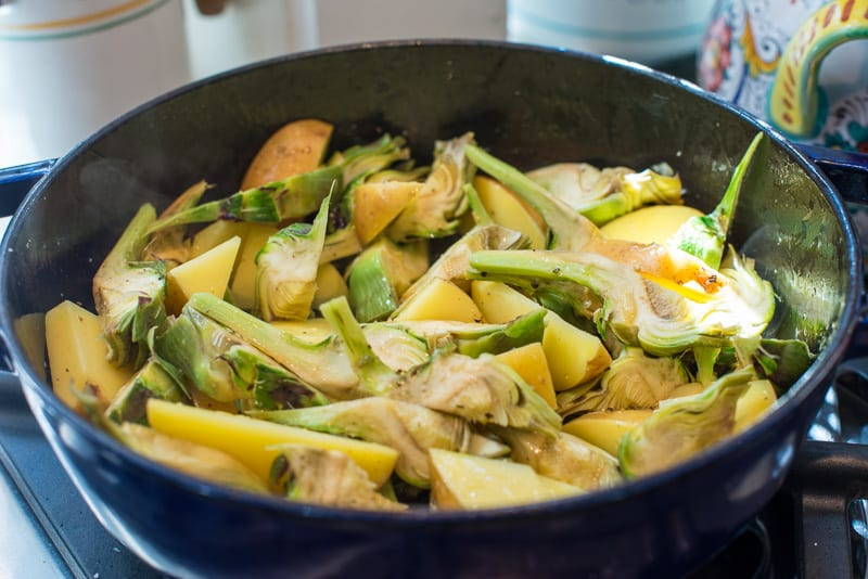 Braised Artichokes and Potatoes