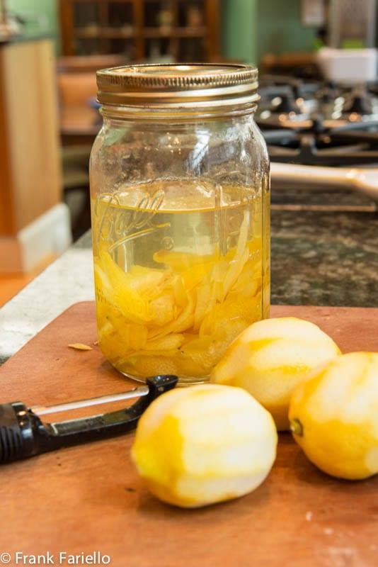 Homemade Limoncello (prep)