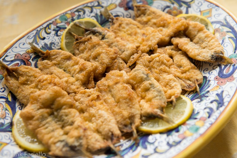 Alici dorate e fritte (Batter-Fried Fresh Anchovies)