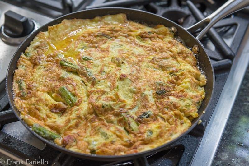 Asparagus and Pancetta Frittata