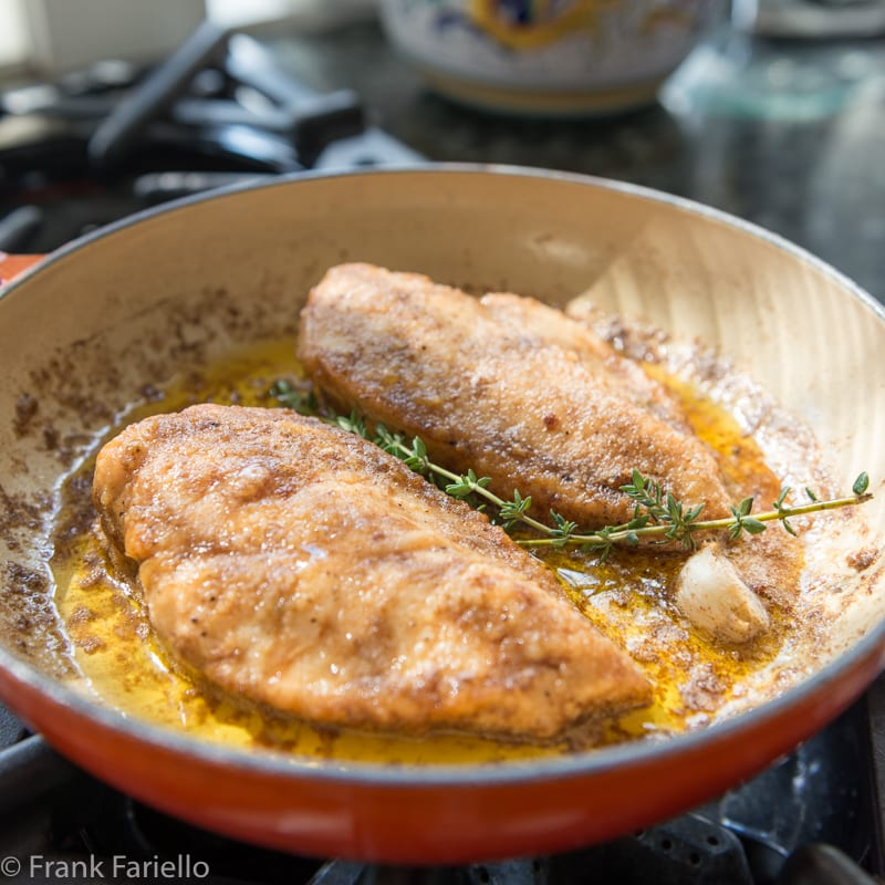 Petti di pollo al burro (Butter-Braised Chicken Breasts)